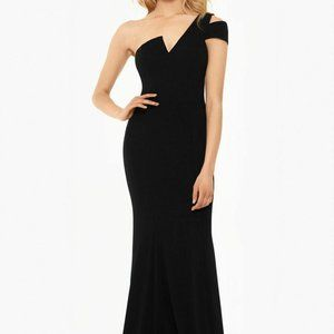 Betsy & Adam Long Black Gown